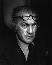 Federico Fellini (1920-1993), Italian director. Zurich (Switzerland), 1977. Photograph by Horst Tappe (1938-2005). © Fondation Horst Tappe / KEYSTONE Suisse / Roger-Viollet