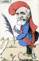 Satirical cartoon about Emile Loubet (1838-1929), French statesman. Humorous postcard, after 1903. © Roger-Viollet