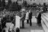 Jimmy Carter (né en 1924), président des Etats-Unis, venu rendre hommage aux soldats tués lors du débarquement de 1944, sur les plages de Normandie. © Jacques Cuinières / Roger-Viollet
