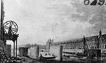 Construction of the Pont-des-Arts under the French Consulate. Paris, 1802-1803. © Neurdein/Roger-Viollet