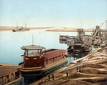 Entrance of the Suez Canal. Port (Egypt), circa 1880-1890. © Roger-Viollet