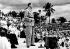 Conference of Brazzaville (Congo). January 1944. Charles De Gaulle pronouncing a speech at Félix-Eboué stadium. © Roger-Viollet