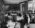 La reine Elisabeth II d'Angleterre, visitant les usines Renault avec Pierre Dreyfus. Paris, 11 avril 1957.      © Roger-Viollet
