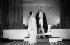 """""""Amphitryon 38"""" de Jean Giraudoux. Valentine Tessier and Pierre Renoir. Paris, Comédie des Champs-Elysées, 1929.    © Boris Lipnitzki / Roger-Viollet"""