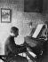 Maurice Ravel (1875-1937), compositeur français, au piano. France, janvier 1913.   © Roger-Viollet