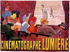 """Affiche du cinéma Lumière : """"L'Arroseur arrosé"""". Auguste et Louis Lumière. © Roger-Viollet"""