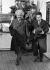 Albert Einstein (1879-1955), physicien américain d'origine allemande, arrivant en Belgique. Mars 1933. © Roger-Viollet