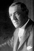 Thomas Woodrow Wilson (1856-1924), President of United States of America. © Roger-Viollet