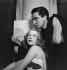 """Electre"" by Jean Giraudoux. Madeleine Ozeray and Paul Cambo. Paris, Théâtre de l'Athénée, May 1937. © Gaston Paris / Roger-Viollet"