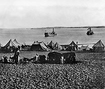 Inauguration of the Suez Canal (Egypt). Camp. 1869. © Roger-Viollet