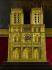 """Anonyme. """"Pendule de Notre-Dame de Paris"""". Bois incrusté de filets de laiton, bronze ciselé et doré. 1835-1845. Paris, musée Carnavalet. © A. Llaurency, F. Cochennec / Musée Carnavalet / Roger-Viollet"""