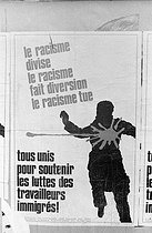 Poster for the defence of the migrant workers. Paris,1973.  © Roger-Viollet