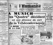 "Accords de Munich. ""L'Humanité"", 30 septembre 1938.   © Roger-Viollet"