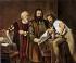 Johannes Gutenberg (circa 1400-1468), German printer and his printing press. © Roger-Viollet
