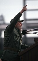 Speech of Fidel Castro (1926-2016), Cuban revolutionary and statesman. Havana (Cuba), June 1988. © Françoise Demulder / Roger-Viollet