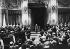 Couronnement de Tomislav II de Croatie à l'initiative d'Ante Pavelic (1889-1959), homme d'Etat yougoslave, en présence de Victor-Emmanuel III d'Italie. Palais du Quirinal, Rome (Italie), 18 mai 1941. © Ullstein Bild / Roger-Viollet