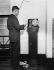 Acquisition de 1000 télégraphes à haute vitesse par Western Union pour la somme de 2,5 millions de dollars. Vers 1935. © Imagno/Roger-Viollet