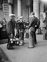 World War II. Mobilized soldiers at the Gare de l'Est. Paris, August 25, 1939. © Roger-Viollet