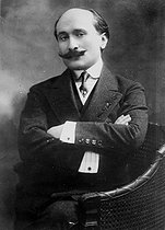 Edmond Rostand (1868-1918), French poet and dramatist, in 1908. © Roger-Viollet