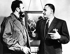 Fidel Castro (1926-2016), homme d'Etat et révolutionnaire cubain, discutant avec Gamal Nasser (1918-1970), homme d'Etat égyptien, vers 1960. © Imagno / Roger-Viollet