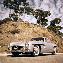 Mercedes 300SL car, coupé with butterfly doors (1954-1957). © Roger-Viollet