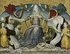"""Foujita (Léonard Tsuguharu Foujita, 1886-1968). """"Vierge couronnée par deux anges"""". Huile sur toile, 1962-1963. Paris, musée d'Art moderne. © Musée d'Art Moderne/Roger-Viollet"""