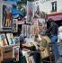 Peintres et badauds sur la Place du Tertre, quartier Montmartre. Paris (XVIIIème arr.), années 1970. © Collection Roger-Viollet / Roger-Viollet
