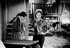 """Shooting of """"Les Deux Pigeons"""" (sketch from the film """"Les Quatre Vérités"""") by René Clair. Charles Aznavour and Leslie Caron. France, 1962. © Roger-Viollet"""