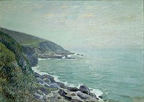 """Alfred Sisley (1839-1899). """"Welsh coasts in the mist"""", 1897. Rouen museum. © Roger-Viollet"""