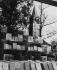 Bookstore at Saint-Germain-des-Prés, the literary district. Very rich intellectual production: Camus, Aron, Mauriac ... Paris (VIth arrondissement), 1956. Photograph by Janine Niepce (1921-2007). © Janine Niepce / Roger-Viollet