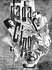 """Foire internationale Dada. Raoul Hausmann (1886-1971). """"Dada cino"""". Affiches. Berlin (Allemagne), 1920. © Ullstein Bild/Roger-Viollet"""
