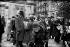 Russian émigrés leaving the Alexander Nevsky cathedral, rue Daru. Paris (VIIIth arrondissement), circa 1930. © Albert Harlingue / Roger-Viollet