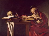 """Saint Jerome"", by Caravaggio (1571-1610). Rome, Borghese gallery. © Roger-Viollet"