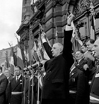 Charles De Gaulle (1890-1970), President of the French Republic. Tourcoing (France), September 27, 1962. © Roger-Viollet