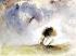"""Joseph Mallord William Turner (1775-1851). """"Un arbre dans la tempête"""". Huile sur toile. © TopFoto/Roger-Viollet"""