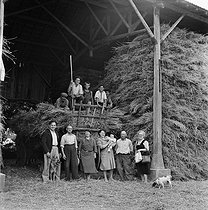 Bringing in the wheat in a farm of the Cher (France), July 1950. © LAPI/Roger-Viollet