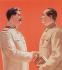 """Viktor Ivanov. """"Pour une amitié solide et inébranlable entre les peuples soviétique et chinois"""". Dessin de propagande, 1951. © Ullstein Bild / Roger-Viollet"""