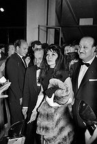 Juliette Gréco (born in 1927), French actress and singer and Darryl Francis Zanuck (1902-1979), American producer. Cannes film festival, 1959. © Roger-Viollet
