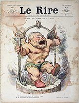 "Charles-Lucien Léandre (1862-1934). Jean Jaurès (1859-1914), French politician, as a cherub of Peace. Engraving from the newspaper ""Le Rire"", on March 8, 1913. Paris, musée Carnavalet. © Musée Carnavalet / Roger-Viollet"