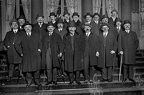 8th government of Aristide Briand (November 28, 1925 - March 1926). First row, from left to right: Périer, Laurent-Eynac, Pierre Laval, Paul Painlevé, Aristide Briand, Vincent, Durafour. Behind: Morel, Levasseur, Camille Chautemps, Bénazet, Renoult, Chauvinist, Georges Leygues, Ossola, Anatole de Monzie. © Albert Harlingue / Roger-Viollet