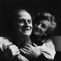Yehudi Menuhin (1916-1999), American violinist and conductor, with his wife Diana. Paris, January 1980. © Kathleen Blumenfeld / Roger-Viollet