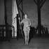 """""""L'Alouette"""" by Jean Anouilh. Suzanne Flon. Paris, Théâtre du Montparnasse, October 1953. © Studio Lipnitzki/Roger-Viollet"""