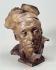 """Jean Carriès (1855-1894). """"Le cuisinier ou le vieux magistrat"""". Musée des Beaux-Arts de la Ville de Paris, Petit Palais. © Philippe Ladet/Petit Palais/Roger-Viollet"""