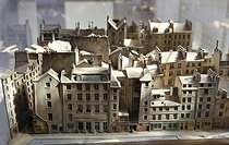 Carnavalet museum. Gaston Renault. Model of the Saint-Merri district in Paris. Wood, plaster, fabric, glass and polychromes, 1913. Paris, 2010. © Carole Rabourdin/Parisienne de Photo/Roger-Viollet
