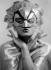 Homme masqué. Modèle Albin-Guillot. France, 1920-1950. © Laure Albin Guillot / Roger-Viollet