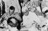Gamal Abdel Nasser (1918-1970), Egyptian statesman and Jawâharlâl Nehru (1889-1964), Indian statesman, in Jakarta's airport, for the conference of Bandoeng, in April, 1955. © Collection Roger-Viollet / Roger-Viollet