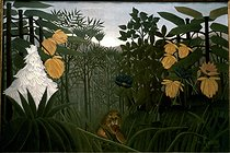 Henri Rousseau (1844-1910). The Meal of the Lion, 1907. New York, Metropolitan museum of Art © Roger-Viollet