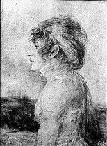 Jean-Baptiste Isabey (1767-1855). Josephine de Beauharnais (1763-1814), wife of Napoleon Bonaparte, in 1798. Drawing. © Roger-Viollet