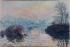 Claude Monet (1840-1926). Sunset on the river Seine in Lavacourt (France), winter effect. Oil on canvas, 1880. Musée des Beaux-Arts de la Ville de Paris, Petit Palais. © Petit Palais/Roger-Viollet