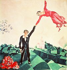 "Marc Chagall (1887-1985). ""La Promenade"", 1917. Saint-Pétersbourg (Russie), musée Russe. © Alinari/Roger-Viollet"